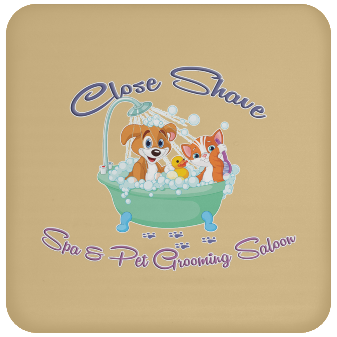 Close Shave Pet Grooming Coaster