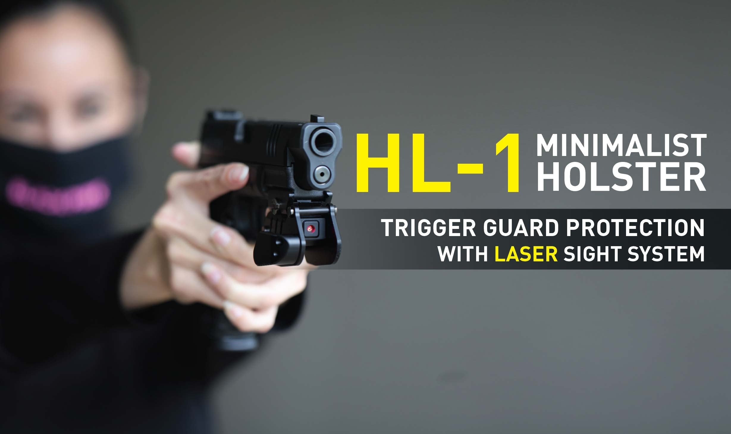 Stinger HL-1 Concealment w/ Red Laser Sight System: Trigger Guard Protection, Belt Clip Minimalist Carry Holster
