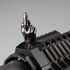 Gloss Tungsten Grey Color Novelty Finger Iron Sight Set - Offset 45 Degree (Middle Finger & OK Hand)
