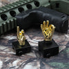 Golden Color Novelty Finger Iron Sight Set - Straight (Middle Finger & OK Hand)
