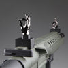 Gloss Tungsten Grey Color Novelty Finger Iron Sight Set - Straight (Middle Finger & OK Hand)