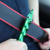 Stinger Whip Car Emergency Tool with Seat Belt Cutter and Window Breaker (Elite Edition, Green)