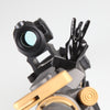 Black Color Novelty Finger Iron Sight Set - Offset 45 Degree (V Hand & Thumbs Up)