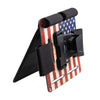 Bedside Magnetic Gun Mount & Holder with Safety Trigger Guard Protection with USA Flag Sticker