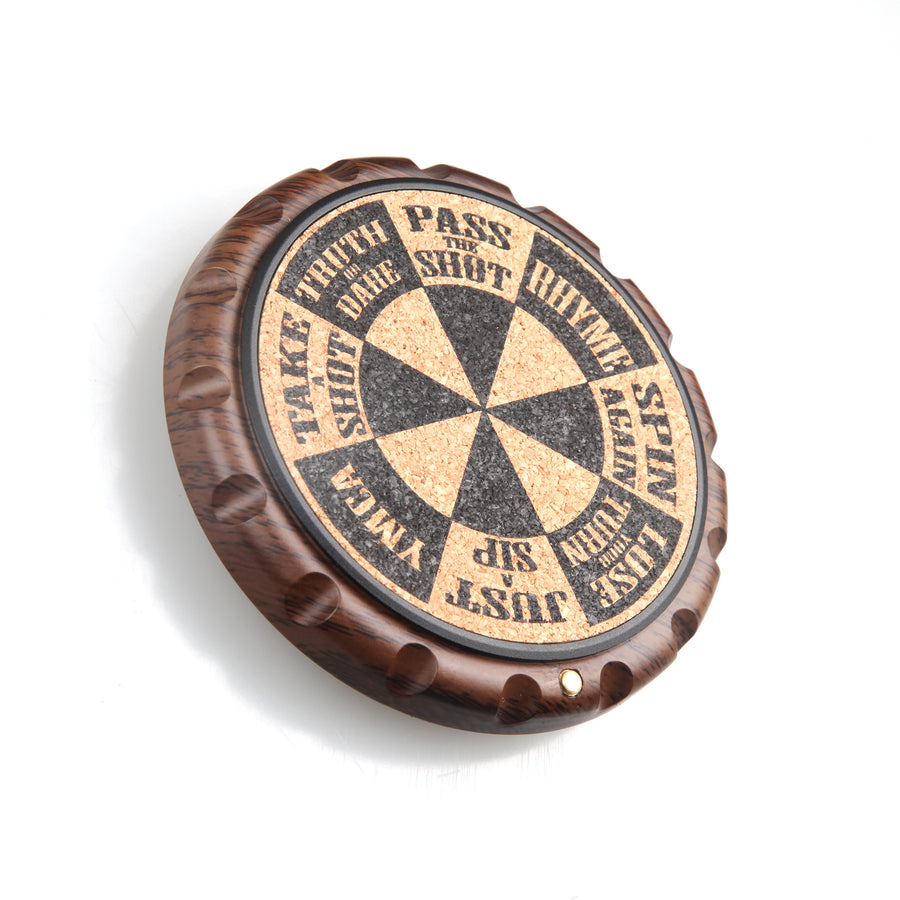Ergo-Spin Game Cork Coaster with Fidget Spinner