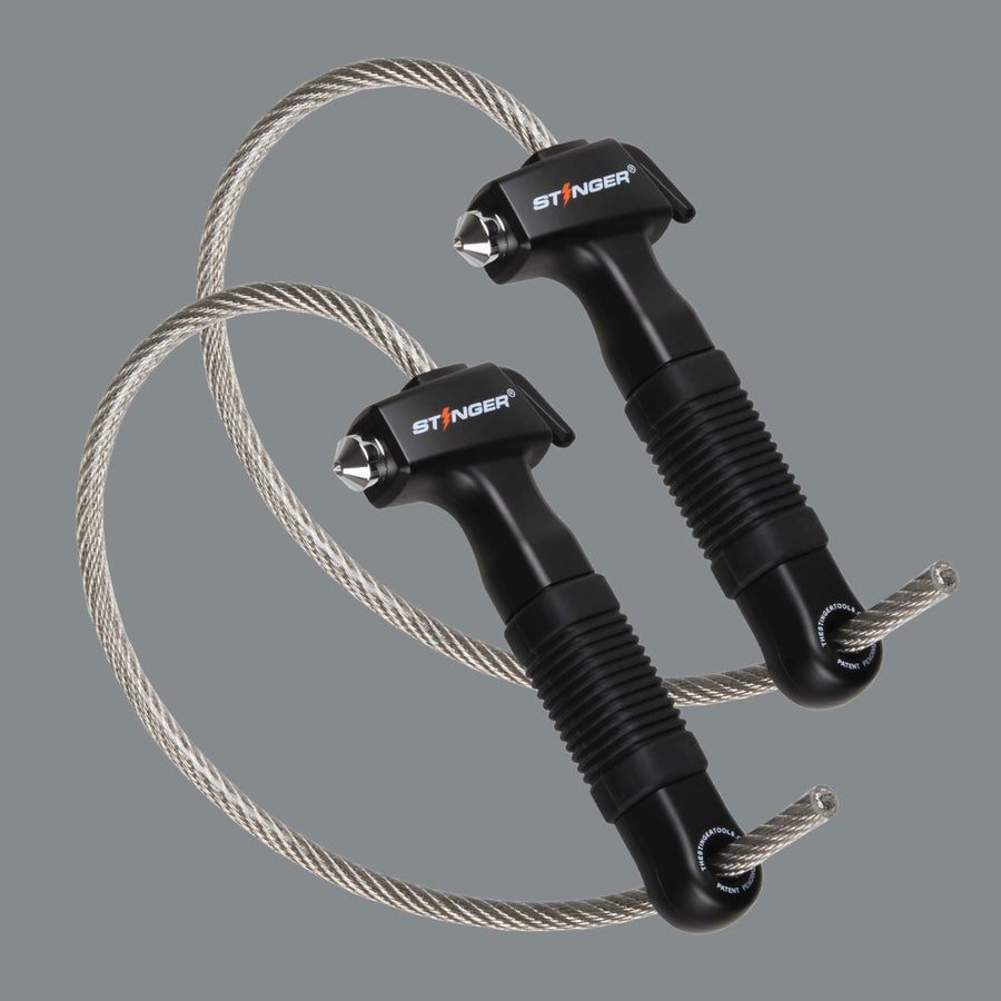 2 x Stinger Life-Saving Whip Car Emergency Tools