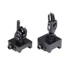 Black Color Novelty Finger Iron Sight Set - Straight (Middle Finger & OK Hand)