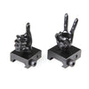 Black Color Novelty Finger Iron Sight Set - Straight (V Hand & Thumbs Up)