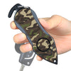 Personal Alarm Emergency Tool: Safety Alarm, Seat Belt Cutter, Glass Breaker (Camouflage Green)