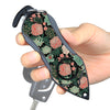 Personal Alarm Emergency Tool: Safety Alarm, Seat Belt Cutter, Glass Breaker (Green Flower)