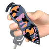 Personal Alarm Emergency Tool: Safety Alarm, Seat Belt Cutter, Glass Breaker (Camouflage Purple)