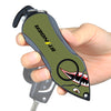 Personal Alarm Emergency Tool: Safety Alarm, Seat Belt Cutter, Glass Breaker (Shark)