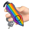Personal Alarm Emergency Tool: Safety Alarm, Seat Belt Cutter, Glass Breaker (Rainbow)
