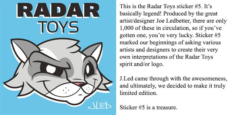 Joe Ledbetter Radar Toys Sticker #5