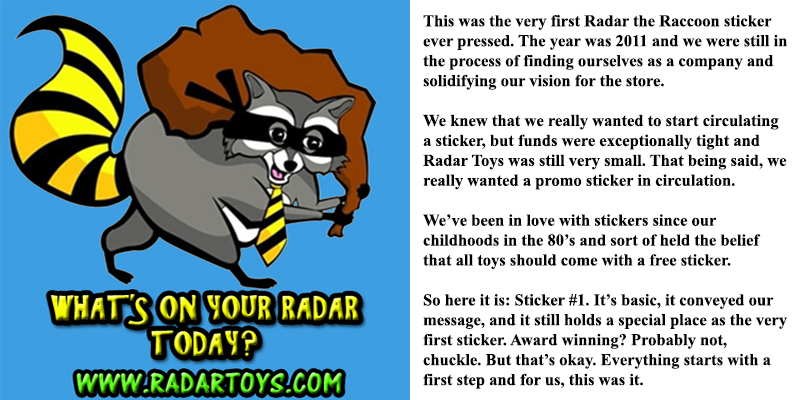 Radar Toys Sticker Design 1