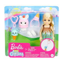Barbie Chelsea Club With Ice Cream Costume With Pet Doll Set