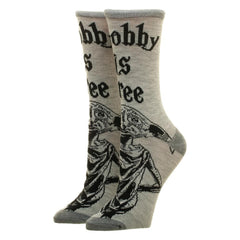 Bioworld Harry Potter Dobby Is Free Jr's Single Pair Crew Socks