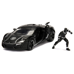 Jada Toys Marvel Avengers Black Panther & Lykan Hypersport 1:24 Diecast Car