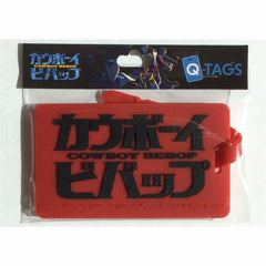 Cowboy Bebop Q-Tags Red Black Lettering Bag Tag