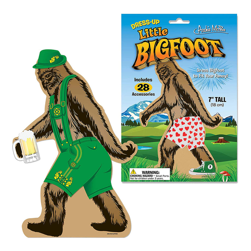 Archie McPhee Little Bigfoot Dressup Reusable Sticker Set