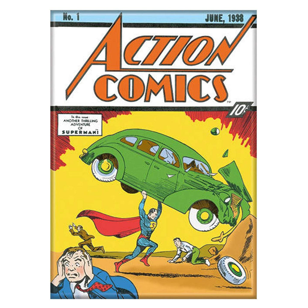 Ata-Boy Action Comics Superman And Car Magnet