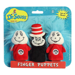 Aurora Dr Seuss Cat In The Hat Finger Puppet Set