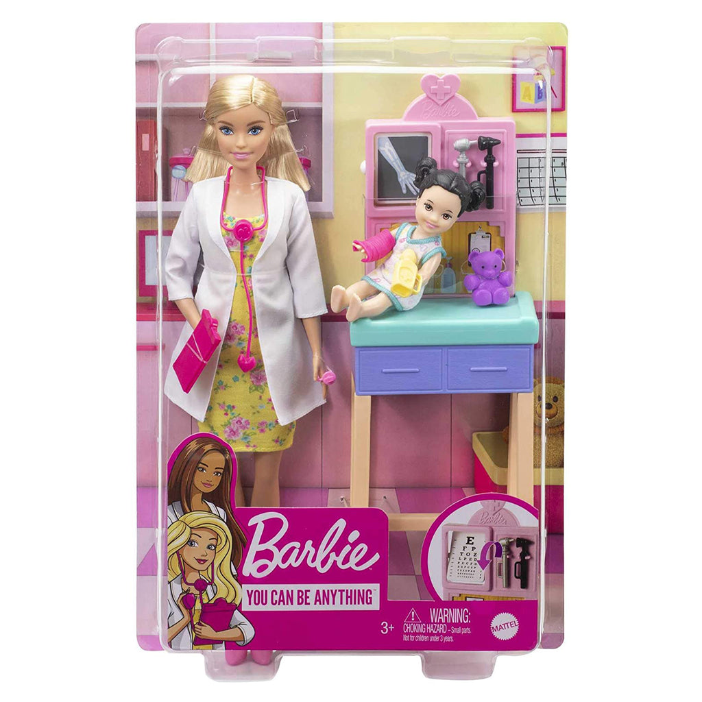Barbie Careers You Can Be Anything Pediatrician Blonde Doll Set