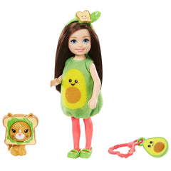 Barbie Chelsea Club With Avocado Costume And Pet Doll Set