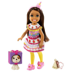 Barbie Chelsea Club With Cake Costume And Pet Doll Set