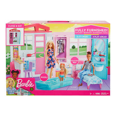 Barbie Close And Go Full Furnished 4 Play Area Set