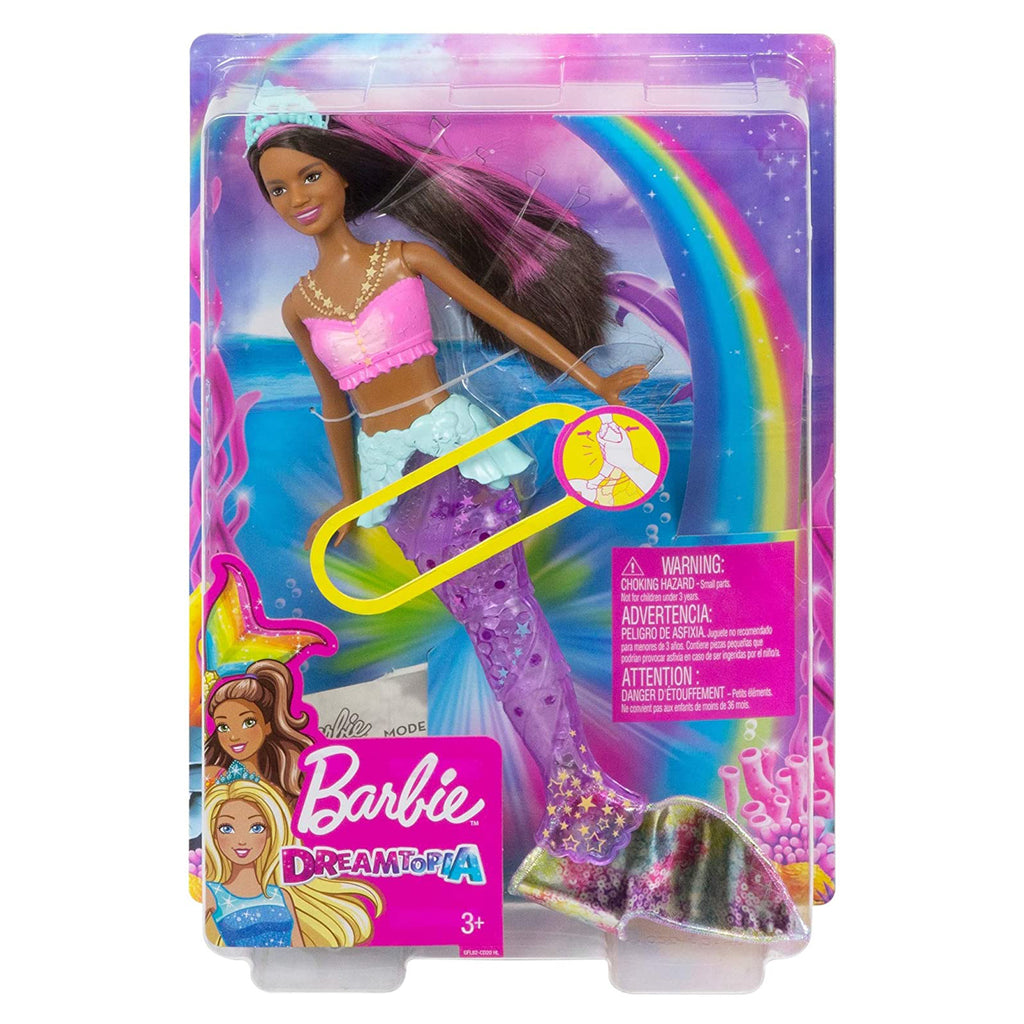 Barbie Dreamtopia Sparkle Lights Brunette Mermaid Doll