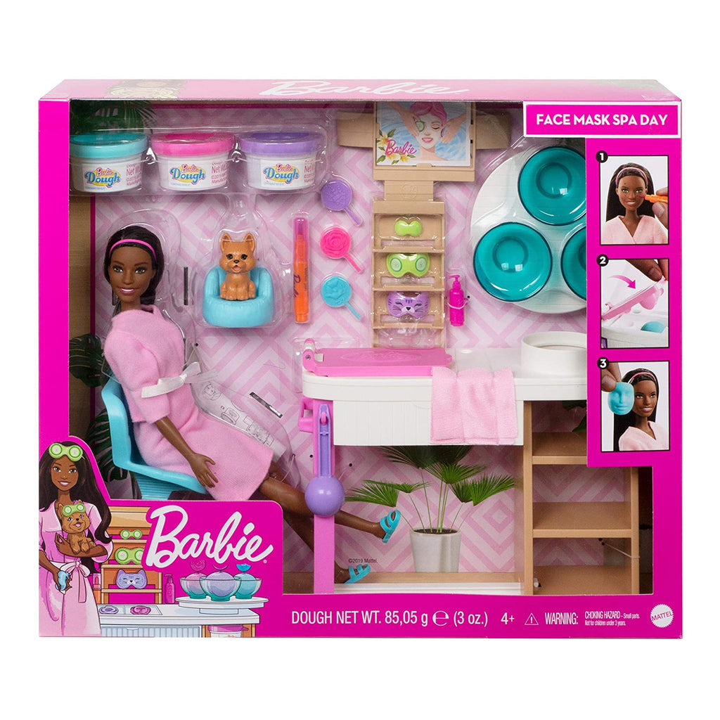 Barbie Face Mask Spa Day Brunette Play Set