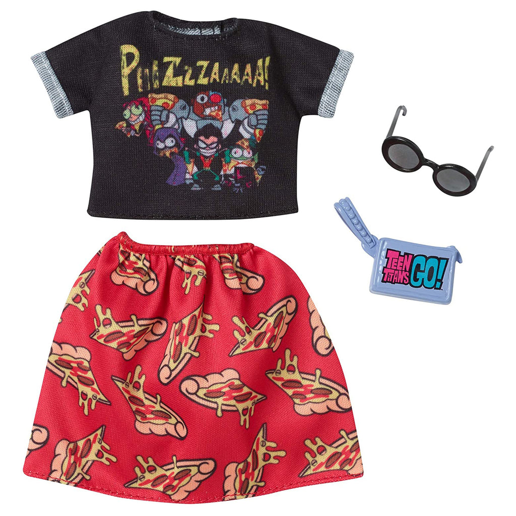 Barbie Teen Titans Go Shirt And Skirt Accessory Set