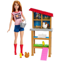 Barbie Careers You Can Be Anything Chicken Farmer Doll Set