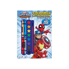 Bendon Marvel Super Hero Adventures Coloring And Activity Book