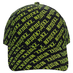 Bioworld Beetlejuice Printed All Over Print Adjustable Buckle Hat