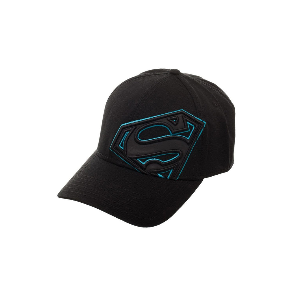 Bioworld DC Superman Off Centered Reflective Stretch Fit Hat