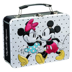 Bioworld Disney Mickey And Minnie Mouse Metal Lunch Tin Box