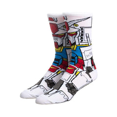 Bioworld Gundam RX-78 360 Character Men's Single Pair Crew Socks