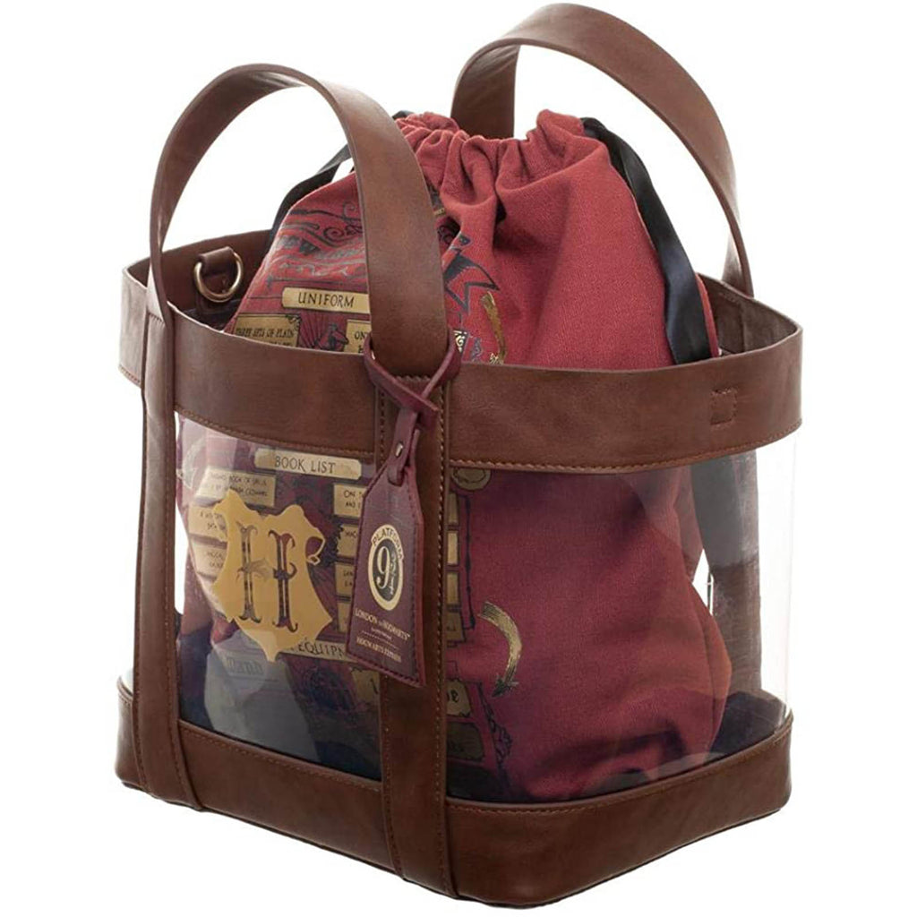 Bioworld Harry Potter Hogwarts Clear Tote Bag Purse