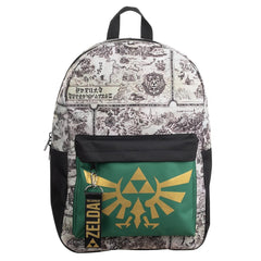 Bioworld Legend Of Zelda Map Triforce Backpack
