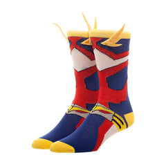 Bioworld My Hero Academia All Might Cosplay Men's Single Pair Crew Socks