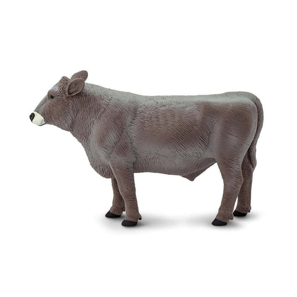 Brown Swiss Bull Wild Safari Farm Figure Safari Ltd