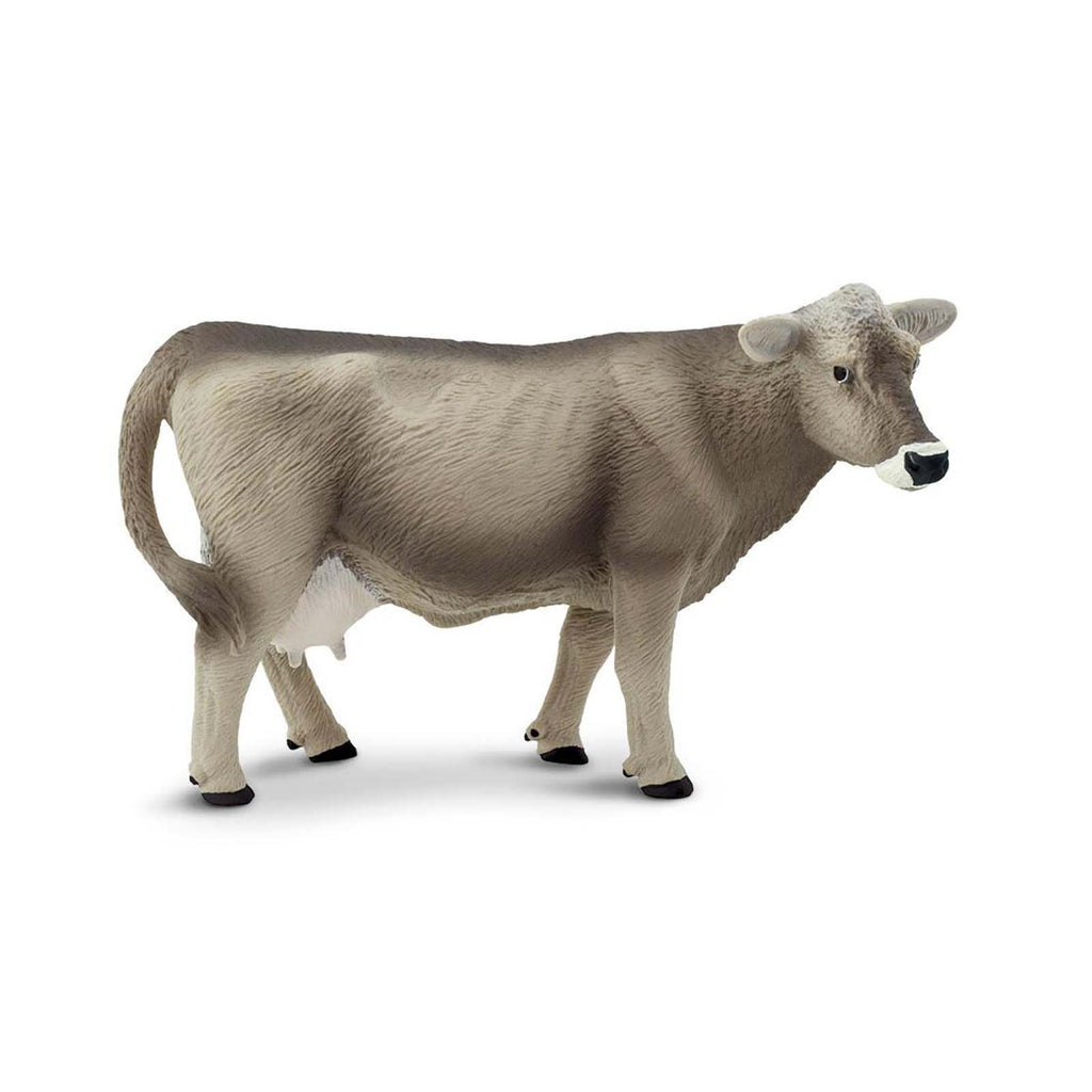 Brown Swiss Cow Wild Safari Farm Figure Safari Ltd