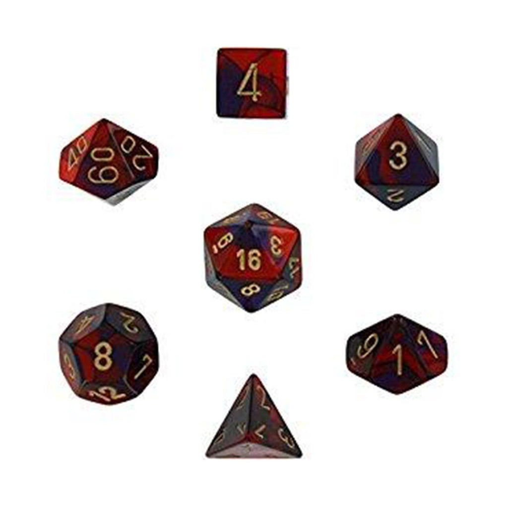 Board Games - Chessex 7 Set Dice Gemini Purple-Red/Gold CHX 26426