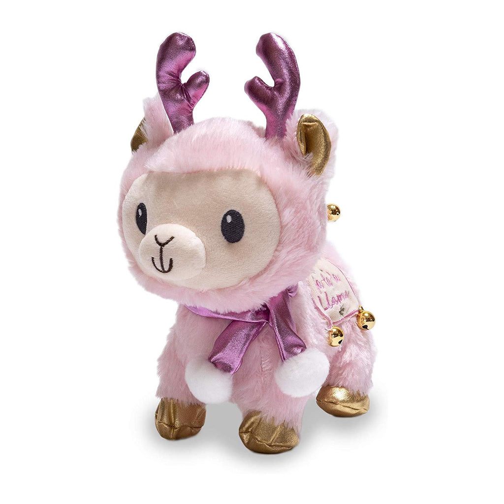 Cuddle Barn Winter Blush Fa La La Llama 8 Inch Plush With Sound