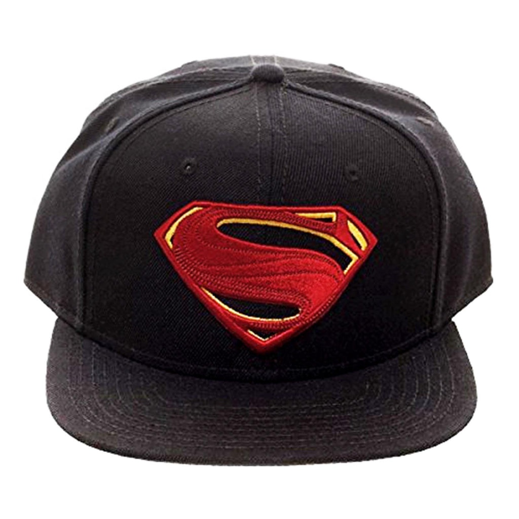 DC Justice League Superman Logo Black Snapback Hat