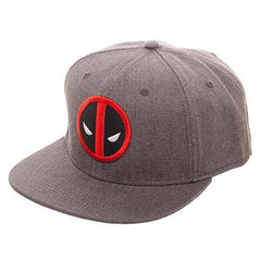 Deadpool Logo Grey Flat Bill Flex Hat