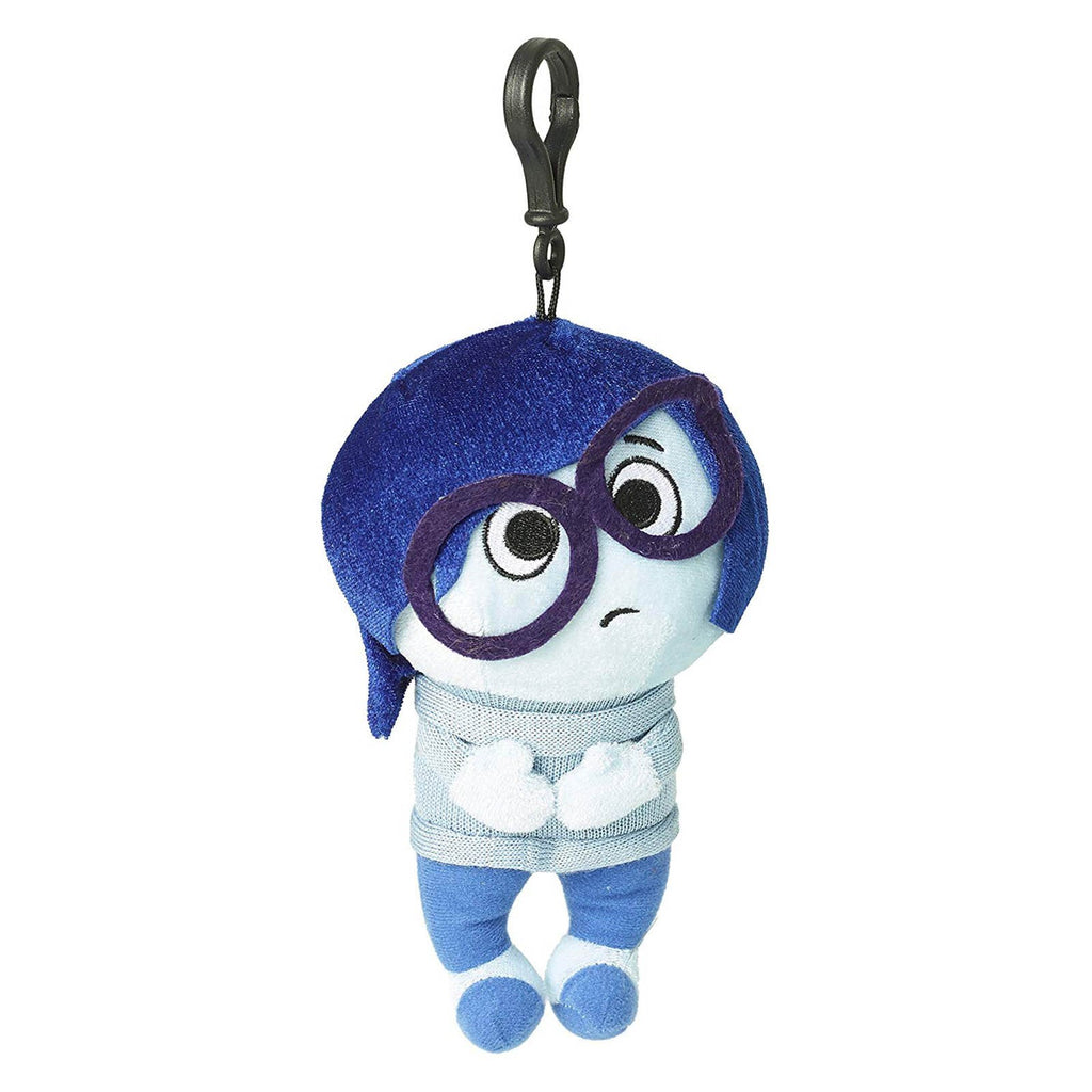 Disney Inside Out Sadness Zippered Clips 8 Inch Plush Figure
