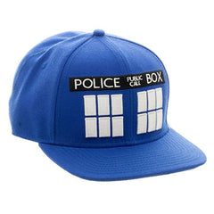 Hats - Doctor Who Police Box Blue Snapback Hat